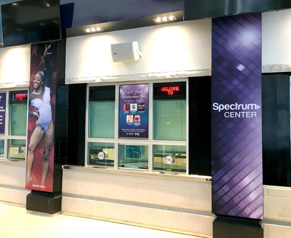 Matrix Frames at the Spectrum Center Ticket Counter
