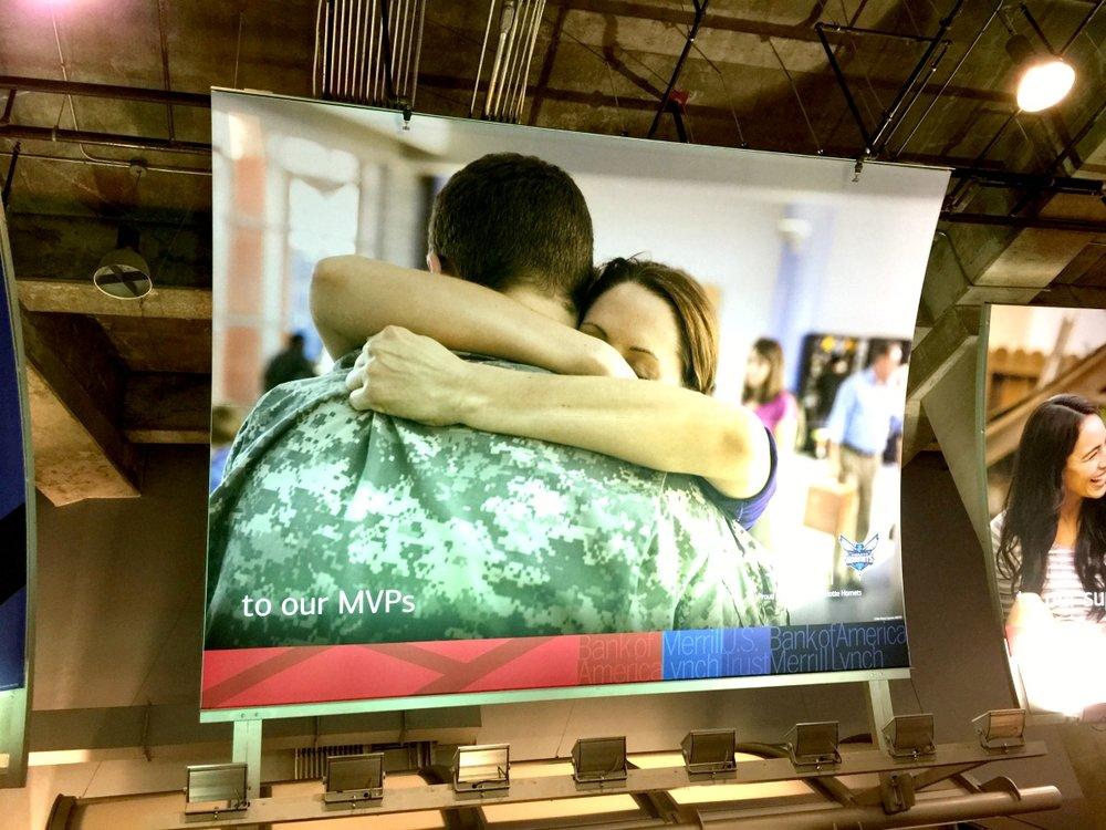 Advertising Matrix Frame Sign in Spectrum Arena