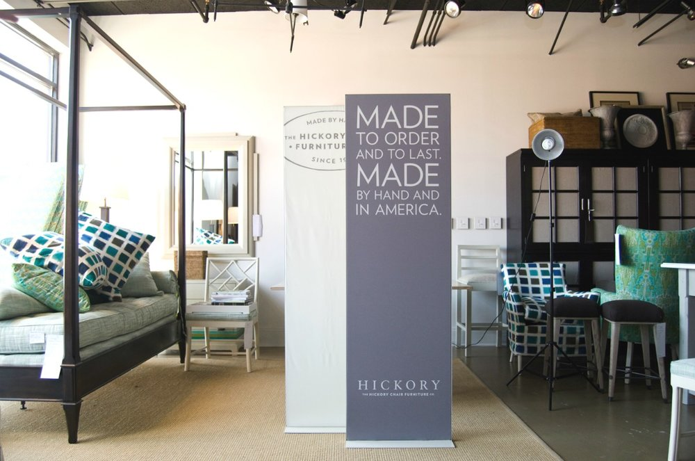 Hickory Furniture Matrix Frame Freestanding Tension Fabric Displays