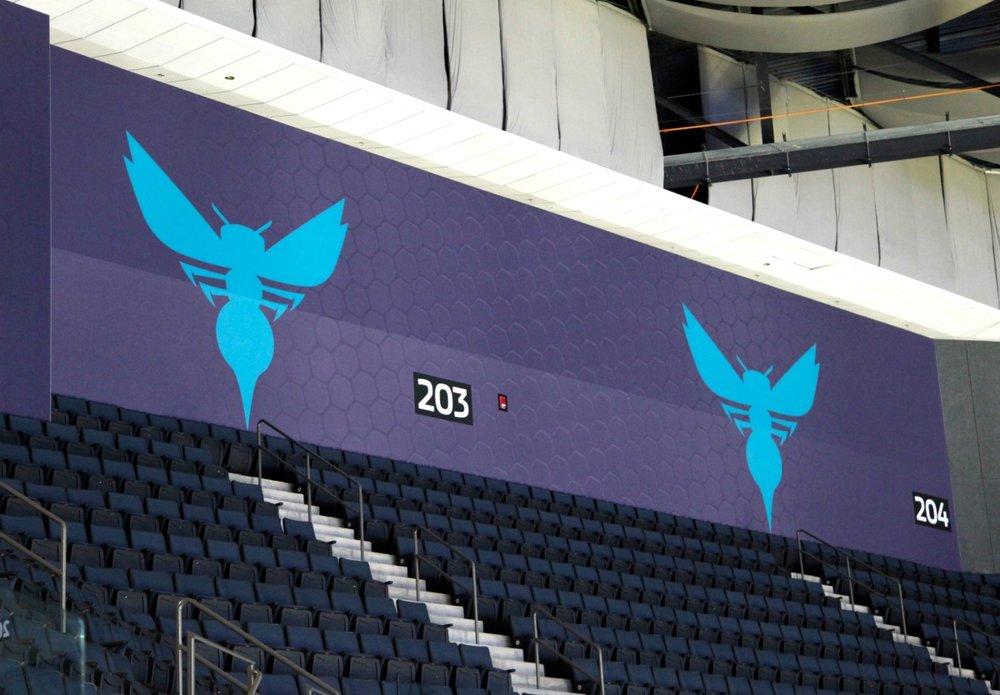 Hornets Matrix Frame Arena Walls