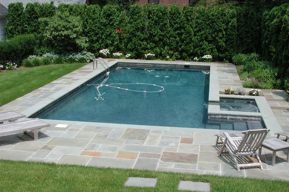 there has been an evolution in concrete pool design over the past 50 years from the simple rectangles of the late 1960s to the free form craze of the