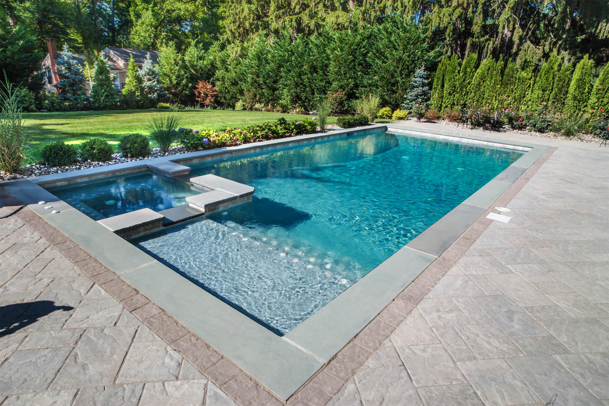 Emejing rectangular swimming pool designs photos for Pool design nj