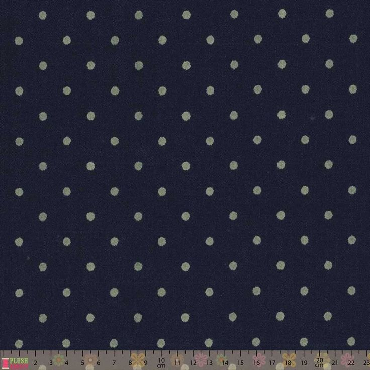 Polkadot Stretch Denim