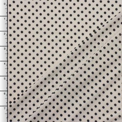 Black on Ivory Polkadot Knit
