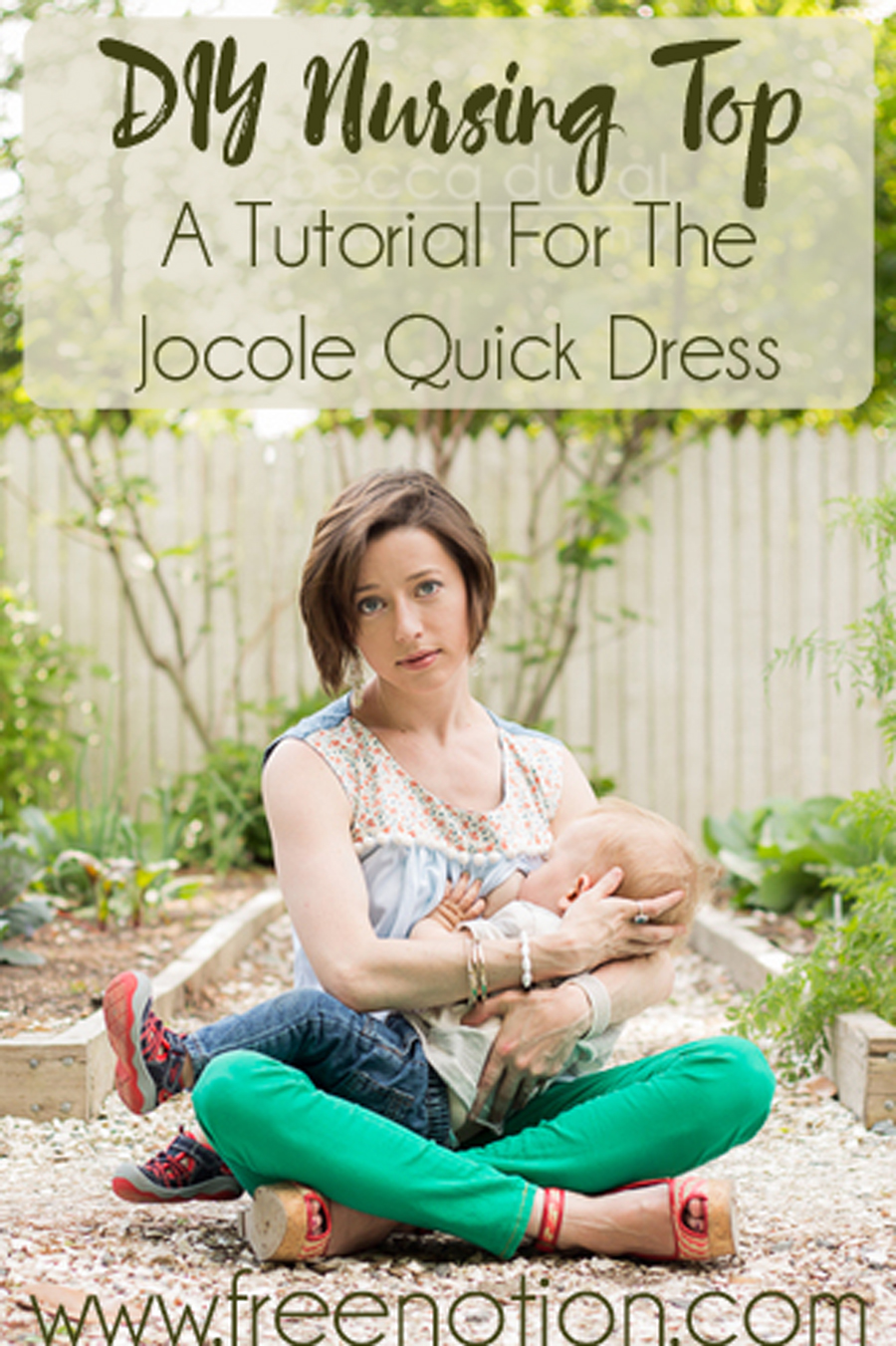 DIY Nursing Top Modification for the Jocole Patterns Quick Dress!