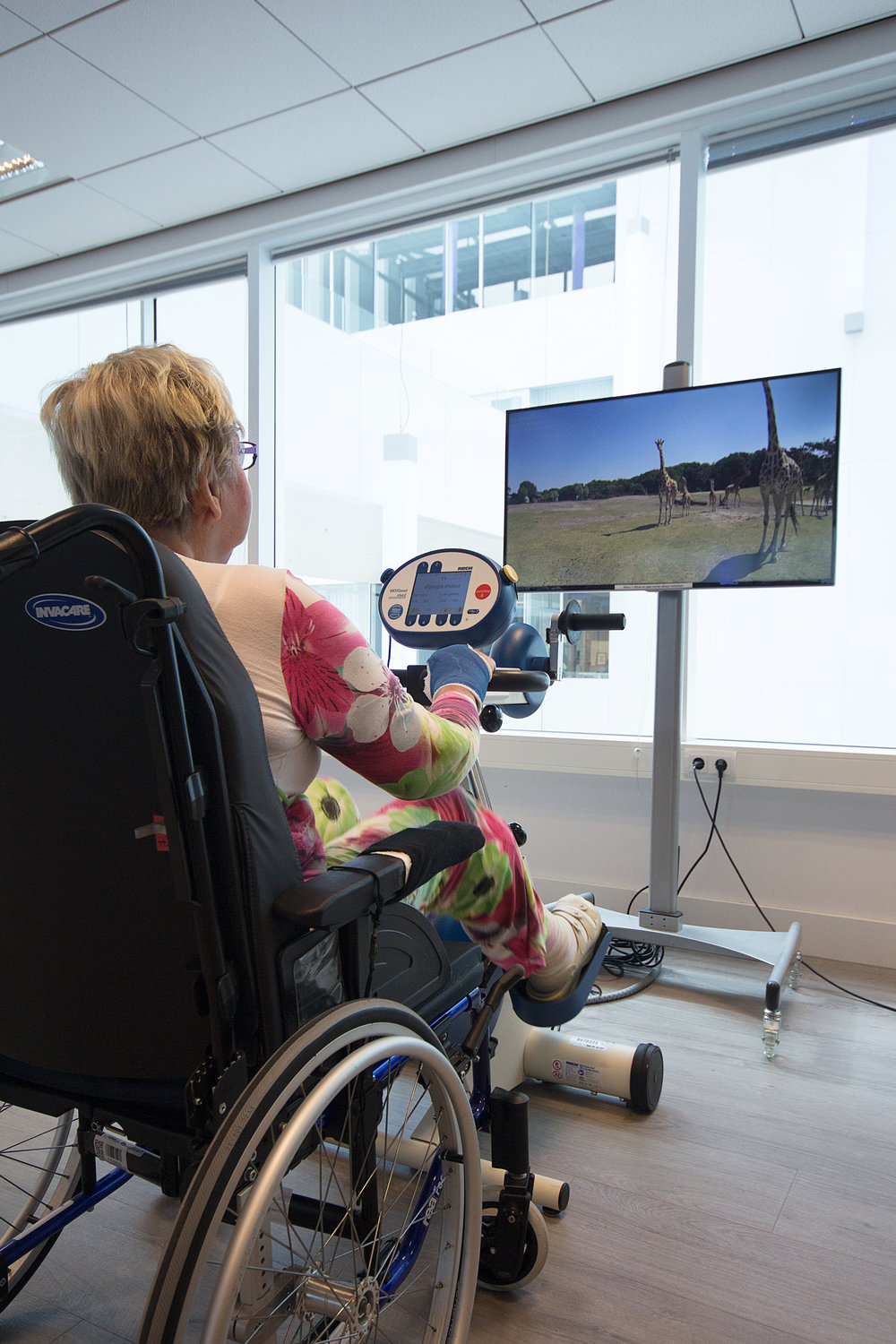 Bike Labyrinth is easy to deploy with any exercise bike and HD television