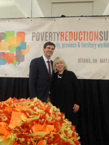 Mayor Don Iveson with the Honourable Deb Matthews.