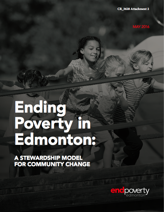 Ending Poverty in Edmonton - Stewardship Model Cover.png