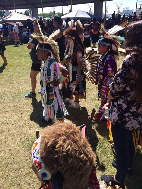 2nd World Indigenous Nations Games Opening Ceremonies at Bear Park, Mascwacis