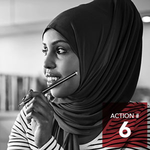 Action 6 - Provide opportunities and supports to vulnerable populations to participate in all City committees.
