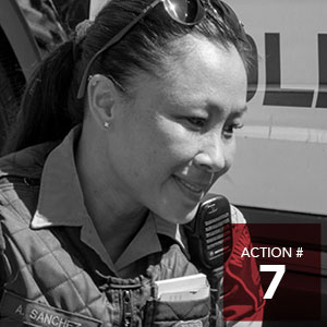 Action 7 - Support and promote training opportunities to build understanding and end stigmatization between vulnerable people and law enforcement personnel.