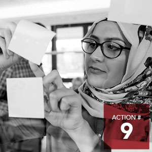 Action 9 - Implement a social lab project to generate ideas and test prototypes to end racism.