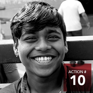 Action 10 - Work with local Indigenous and refugee youth on an anti-racism public awareness and action campaign.
