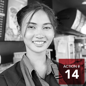Action 14 - Draft a living wage policy for all City of Edmonton staff and contracted services to be approved by City Council.