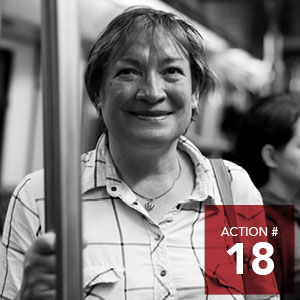 Action 18 - Implement a low-income transit pass at 60% discount for eligible low income transit customers.