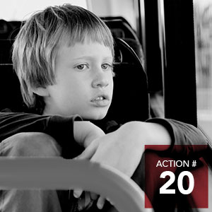 Action 20 - Conduct a feasibility study of the costs and opportunities of free public transportation for children under 12 years.