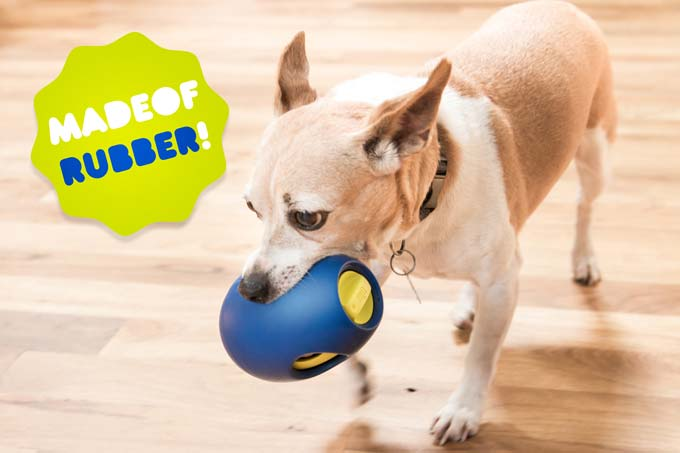 SBARK Tikr is made of pet-safe rubber, so it's safe for your dog.