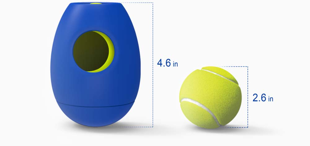 SBARK Tikr dog treat toy size comparison