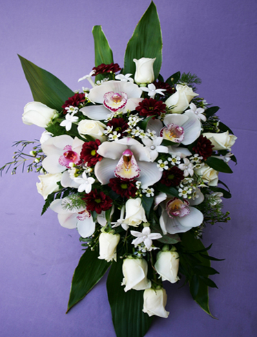 15. Bride's bouquet orchids & white roses