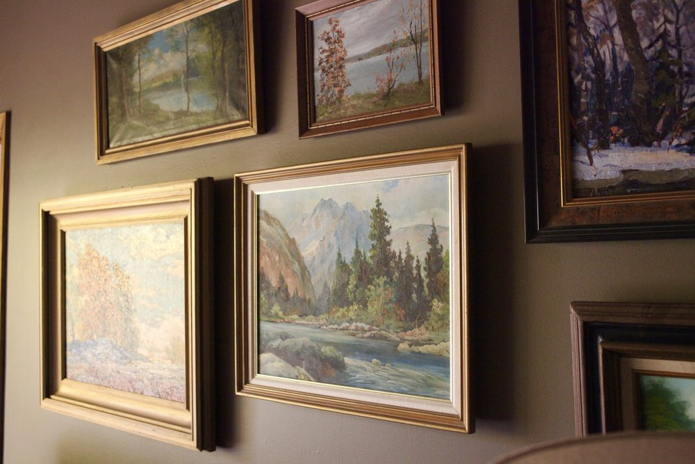 Oil landscape painting gallery wall