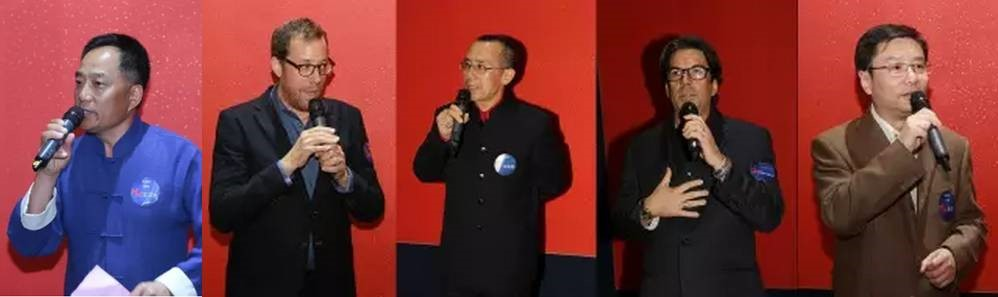(Left to right: Hanguang Wang, Rob Minkoff, Zhaohe Che, Steve O'Brian, Dong Hu)