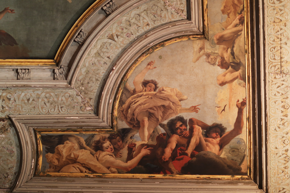 Ceiling at the scuola