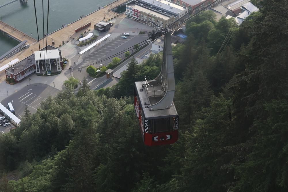 The Mount Roberts Tram above downtown Juneau