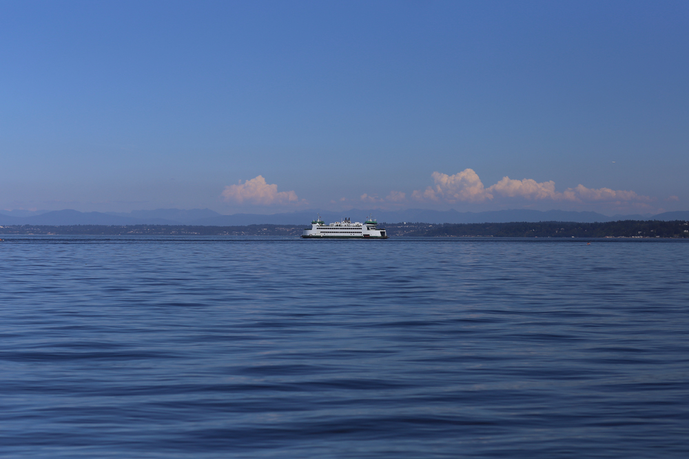 Ferry boat from Tacoma to Vashon