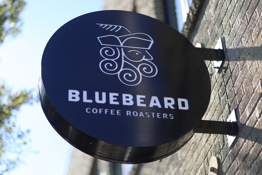 Bluebeard Coffee sign