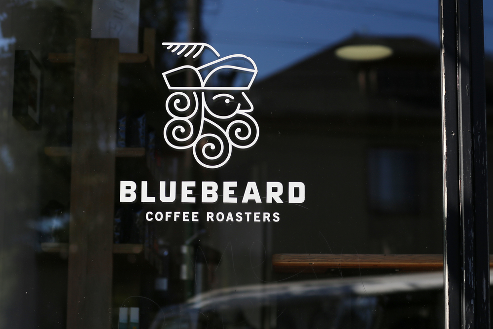 Front door of Bluebeard