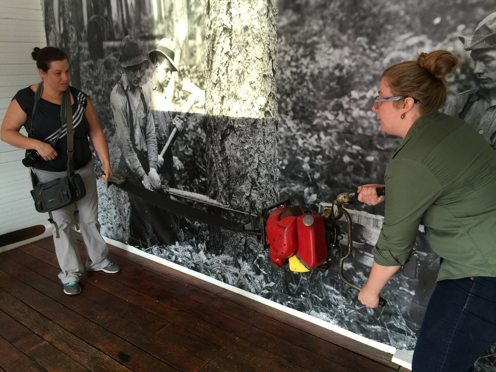 Christina Owen learns about saws