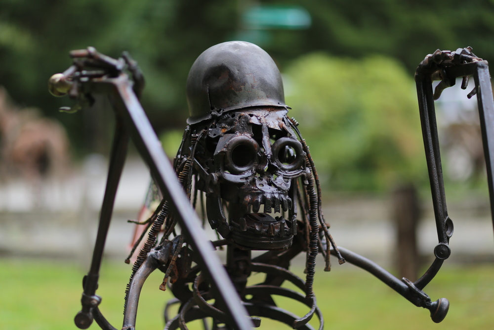 Iron motorcycle skeleton