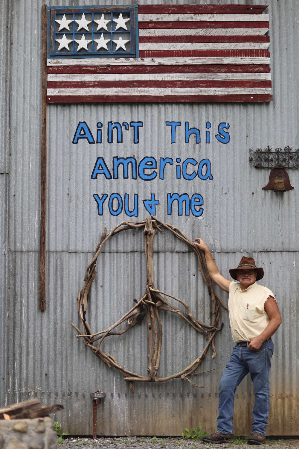 """Klennert before his """"Ain't This America, You & Me"""" art"""