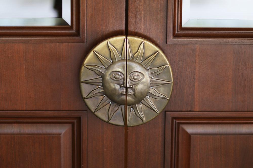 Great sun door handles at the Lodge