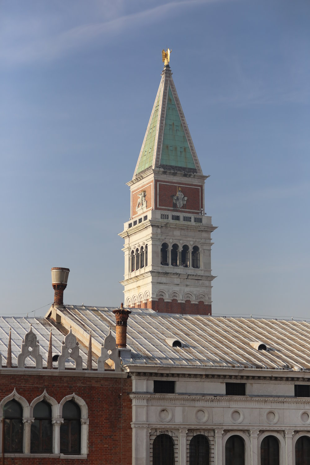San Marco campanile from the Hotel Danieli rooftop restaurant