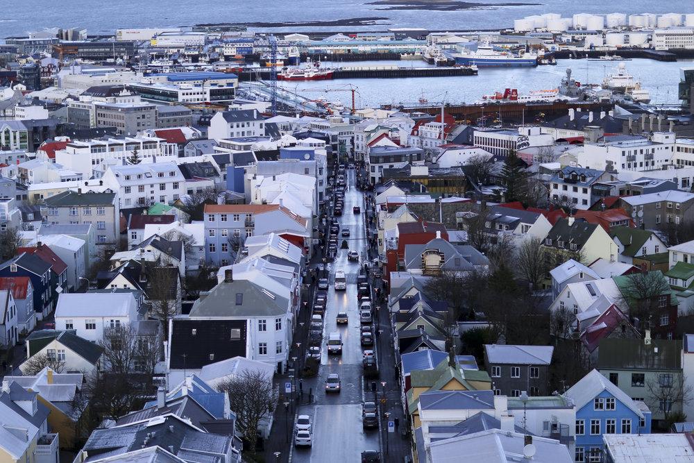City center from the top of Hallgrímskirkja
