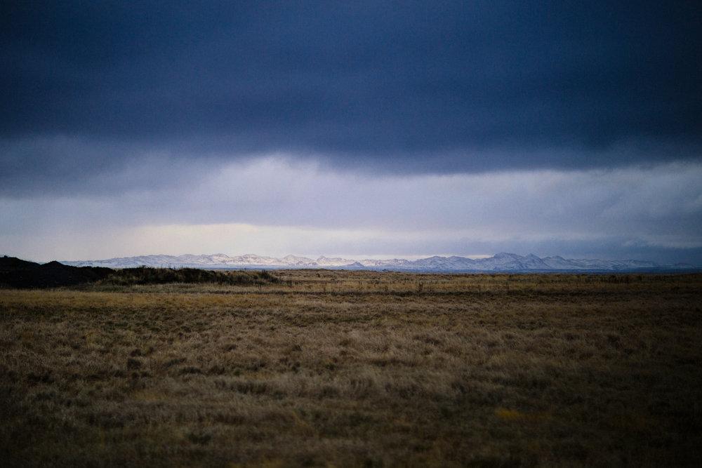 Distant mountain views, near Grótta
