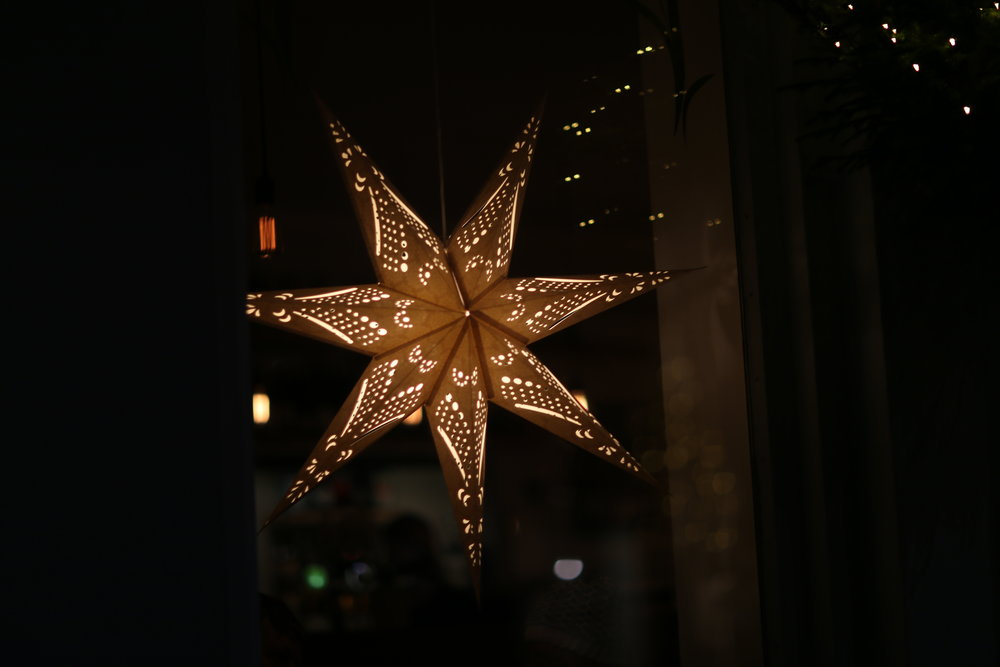 Holiday stars abound in the city center