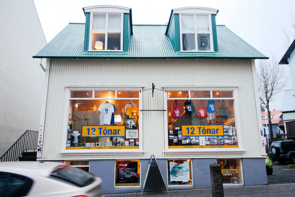 Famous Reykjavík record shop and record label, 12 Tónar