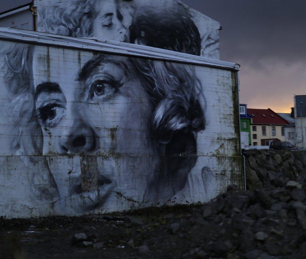 Reykjavík street art by Guido Van Helten