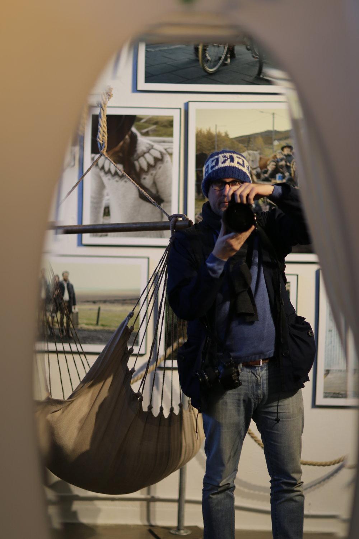 Mirror selfie at the Reykjavík Farmers Market design company