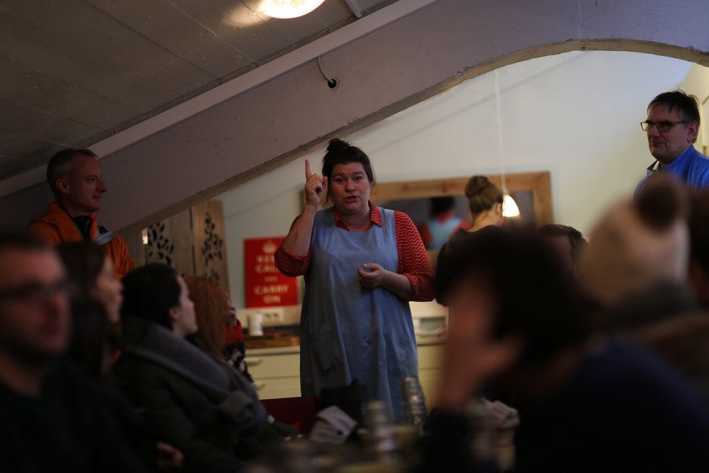 Eirný Sigurðardóttir at the Búrið cheese shop teaches us about true Icelandic skyr cheese