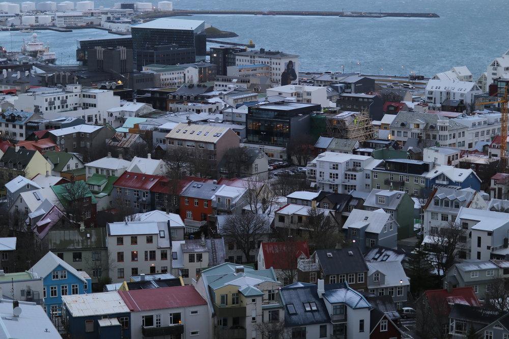 Views from atop Hallgrímskirkja