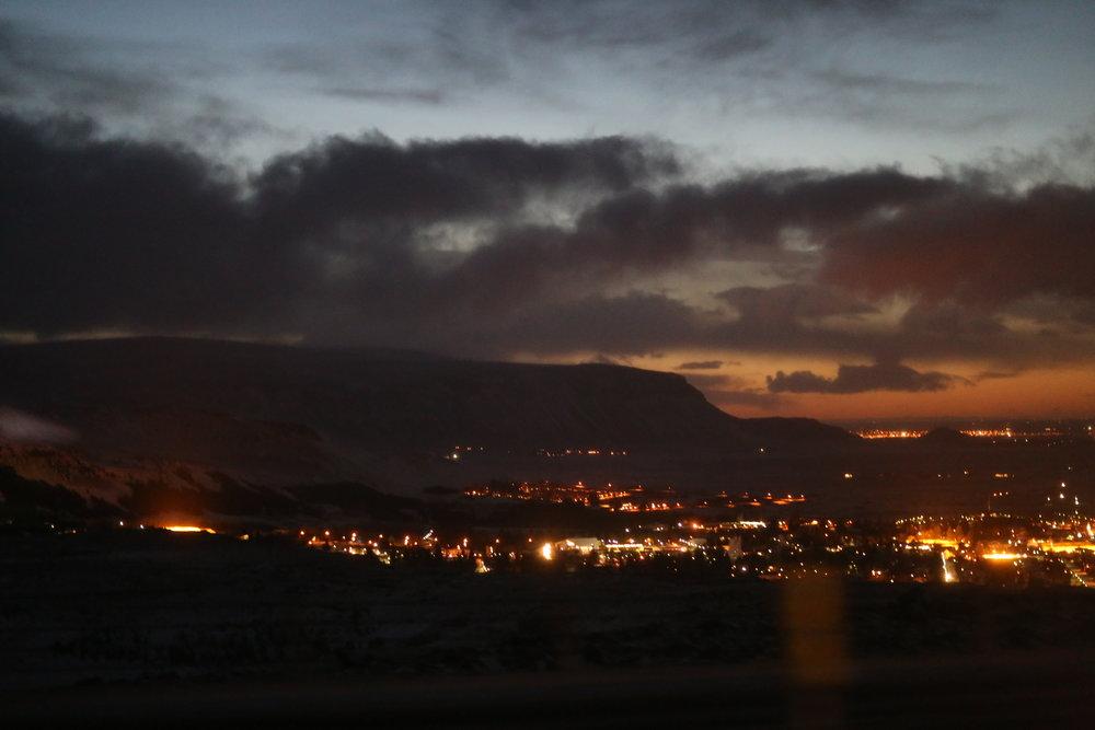 Hveragerði before sunrise