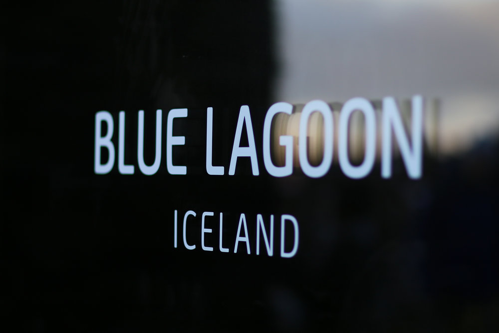 Blue Lagoon. Front door sign.