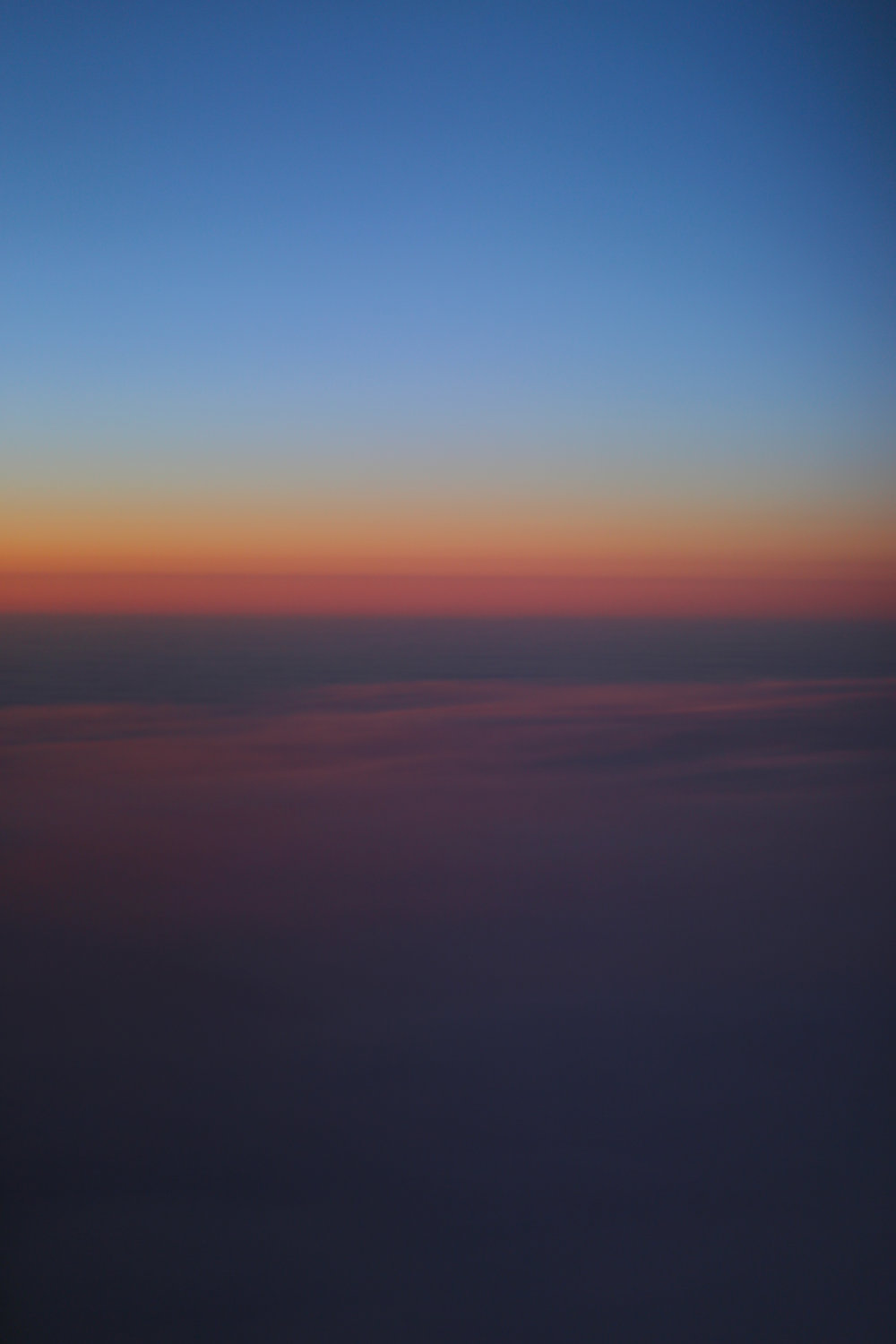 Sunrise far above Canada