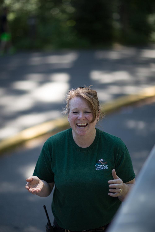 Our wonderful guide, keeper DeAnna Edwards of Northwest Trek