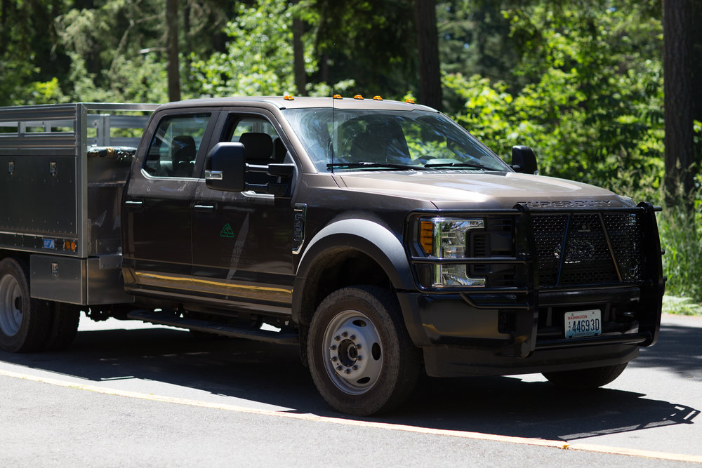 Our truck that we rode in the back of