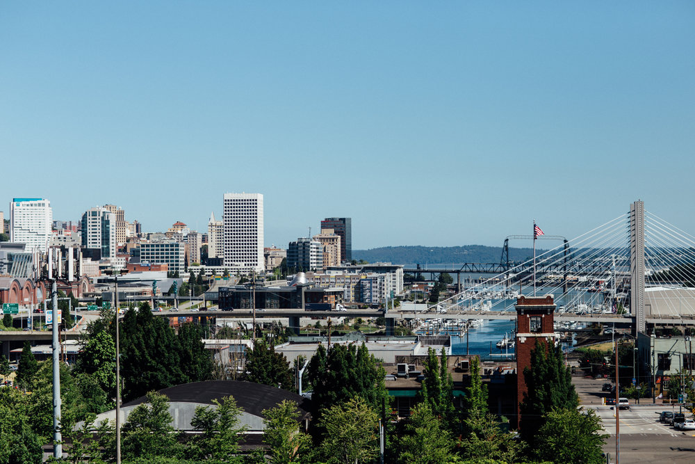 View of Tacoma from the observation deck