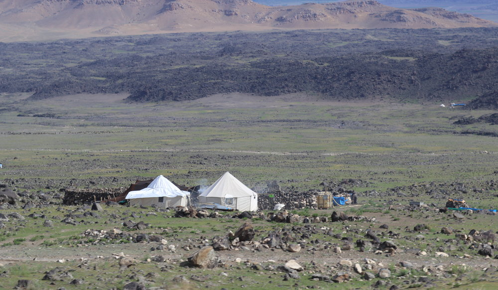 Yurts on the outskirts of the village